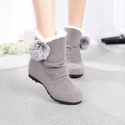 Fashion Women Ankle Boots Winter Shoes Warm Suede Flats Casual Shoes  USPS 5