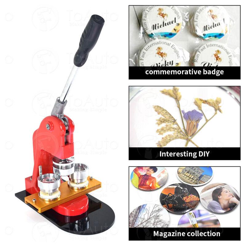 37mm Button Maker Badge Punch Press Machine DIY Tool Free 100 Part Circle Cutter