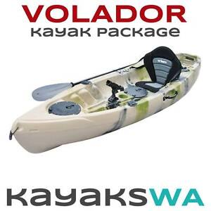 New Volador Fishing Kayak - Deluxe Seat, Paddle and 5 Rod holders Midland Swan Area Preview