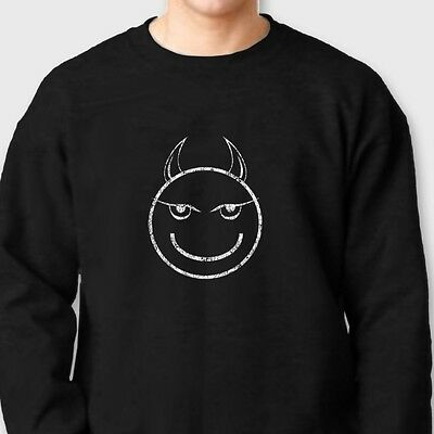 il Devil Tee Horny College Humor Halloween Crew Sweatshirt (College Humor Halloween)