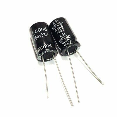 20PCS 47uF 200V 47MFD 200Volt Electrolytic Capacitor 10mm×20mm