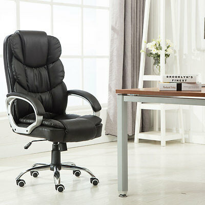 Executive Pu Leather Office Chair High Back Ergonomic Computer Desk Task