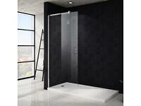 WET ROOM SHOWER SCREEN 1m wide x 1.85m high