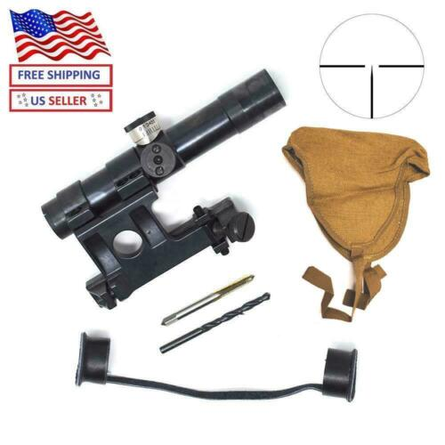 Mosin Nagant PU91/30 Scope with Mount Complete Set SVT-40 MG4X20 German Reticle