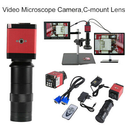 14mp 1080p Hdmi Vga 8-130x Zoom Digital Industrial Video Microscope Camera Set