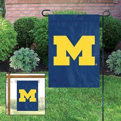 Michigan Wolverines Embroidered Garden Window FLAG w/FREE Window Hanger