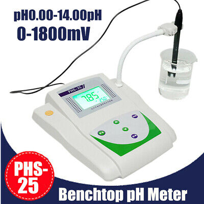 Lab Benchtop Ph Meter Mv Tester Digital Acidity Meter Lcd Phs-25 Fast Shipping
