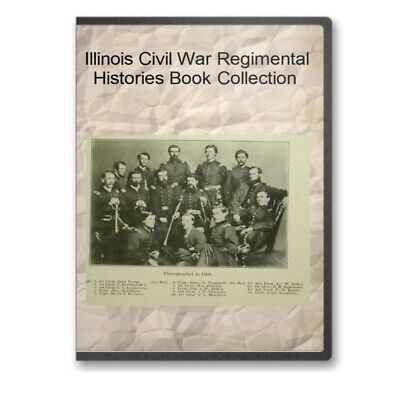 Illinois Civil War Regiment Infantry Union  History Genealogy 44 Book Set - C527