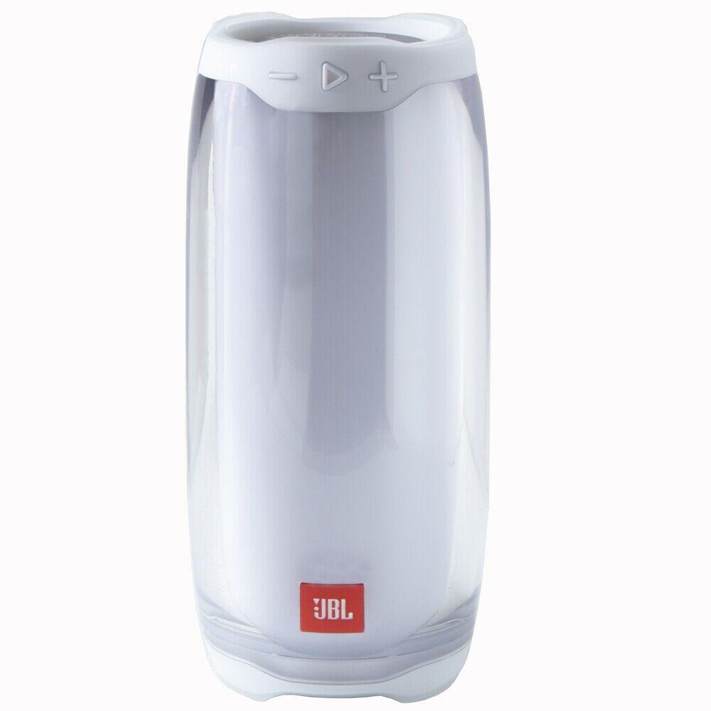 JBL Pulse 4 Bluetooth Lautsprecher weiß Wireless Speaker wasserdicht LED