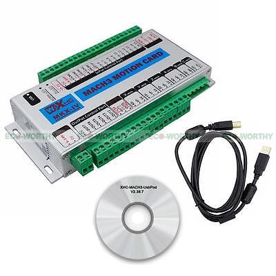 4 Axis Cnc Usb 2mhz Motion Control Cardbreakout Board For Mach3 Xhc-mk4 Upgrade