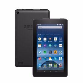 Amazon Fire Tablet, 7 inch Display, Wi-Fi, 8 GB (Black)