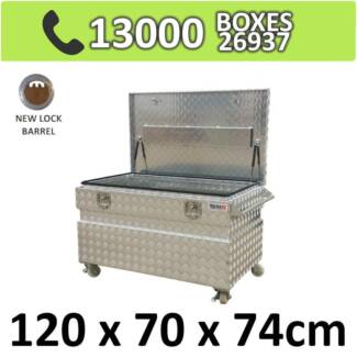Aluminium Job Site Toolbox Truck Ute Trailer Storage Box 1277