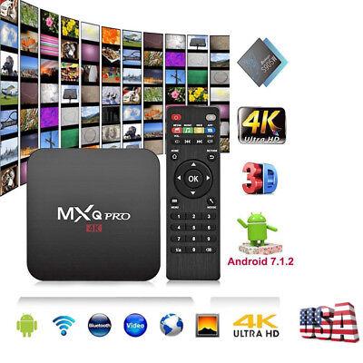 MXQ PRO Set Top TV Box UHD 4K Android 7.1 KODI 18.0 S905W Quad Core 1+8G WIFI