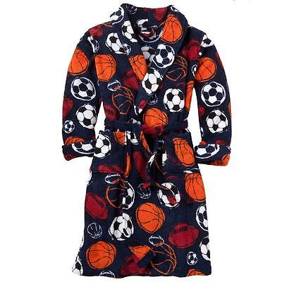 Baseball Robe (NEW Fleece BATH Pajama ROBE SPORTS BASEBALL SOCCER FOOTBALL BASKETBALL boy S 4/6)