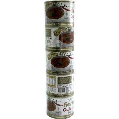 Hesco ungarische Gulaschsuppe Portionen in Dosen 1060 ml 5er Pack