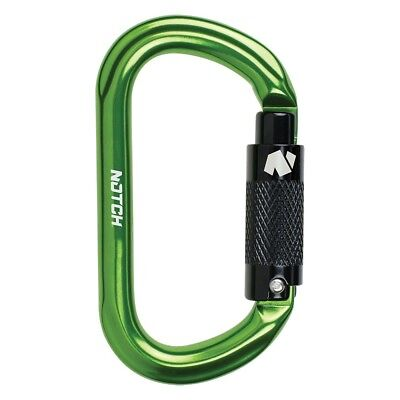 Notch  Green Oval Carabiner W5170lbs Tensile Strength Camping 36677
