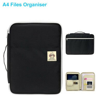 A4 Portfolio Zipped Conference Folder Business Document Case Bag File Organiser