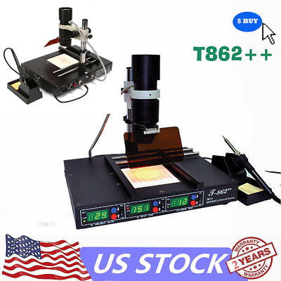 T862 Bga Soldering Rework Station Desolder Smd Preheating Welder Machine Usa