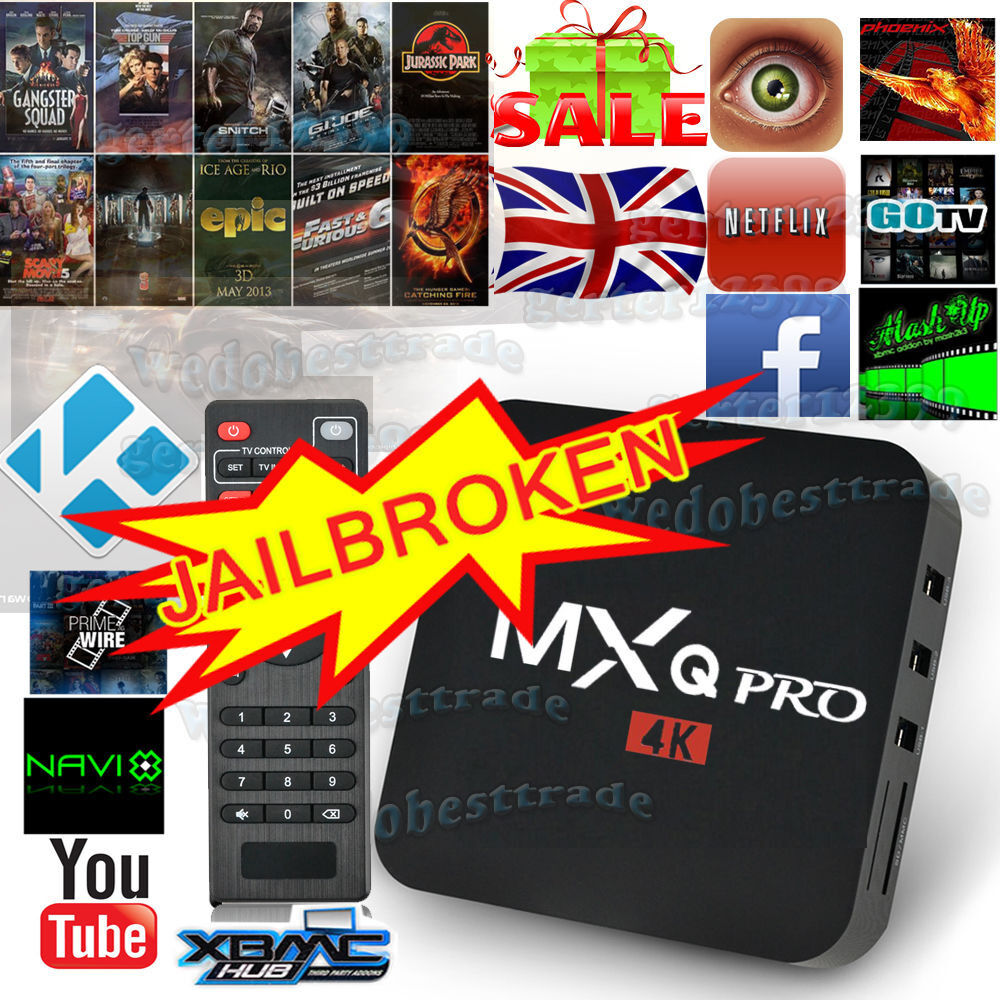 Android TV Boxes MXQ PROFire SticksKodi 17.1 Sports, Movies, TV Shows, KIDS, Fitness, Live TVin Gorton, ManchesterGumtree - Android TV Boxes for Sale with Kodi 17.1 Unlimited entertainment with Kodi 17.1 Sports Movies TV Shows Live TV Fitness Kids and much more Prices are MXQ Pro £40 T95 £60 Fire Stick £50 M9S Pro £70 X96 £70 T95 R Octacore £75 Rii i8 Keyboard with...