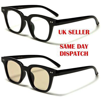 Geek Quality Classic Square Designer Womens Mens Clear Lens glasses 56 100%UV400