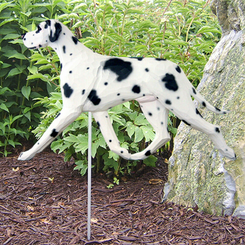 Great Dane Outdoor Garden Sign Hand Painted Figure Harlequin Uncropped