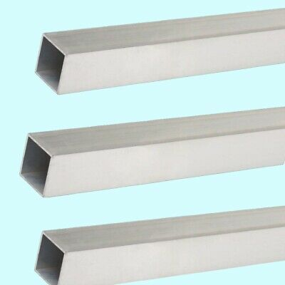 Square Hollow Aluminum Tubes 3-pack 18 O.d. X 764 I.d. X 12 Long Mill