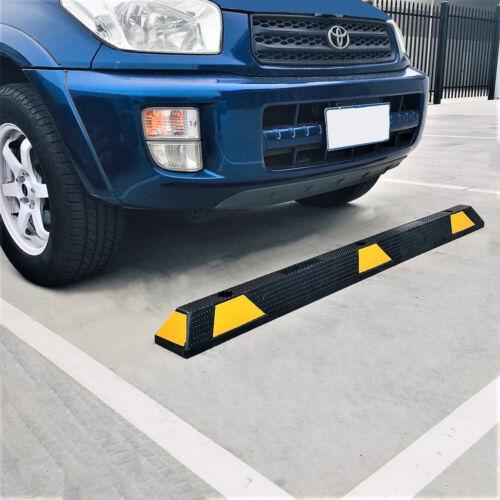 1650mm Rubber Wheel Stops Car Park Wheel Stops w/Fixings for Concrete or Bitumen