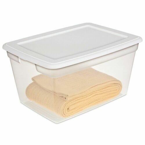 Sterilite 58 Qt. Storage Box White Set of 8