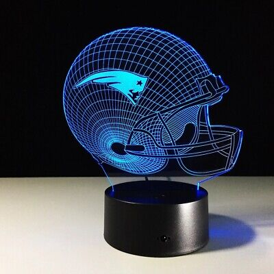 New England Patriots LED Light Lamp Collectible Tom Brady MVP Christmas Gift New England Patriots Collectibles