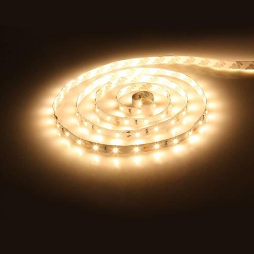 5M 5050 300LEDs Strip Stripe Streifen Band Leiste Lichterkette Warmweiß 24V IP20