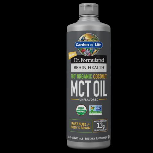 Dr. Formulated Brain Health Organic Coconut MCT Oil, Garden