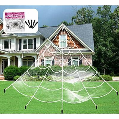 Outdoor Halloween Decorations Scary Giant Spider Web Creepy Super Stretch Cobweb