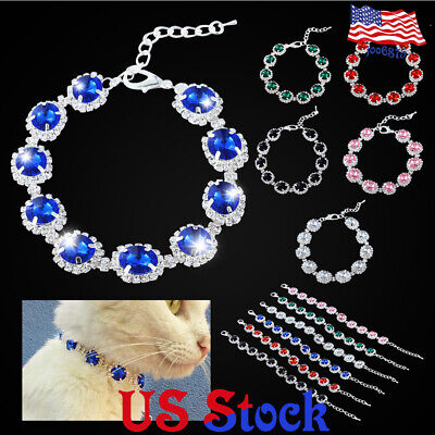Puppy Collar Dog Pet Necklace Cat Rhinestone Pearl Collar Fancy Princess Wedding - Dog Wedding Collar