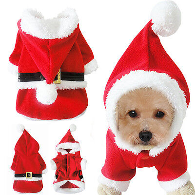 Winter Dog Christmas Clothes Pet Puppy Costumes Hoodie Cute for Xmas Gift - Dog Costumes For Christmas