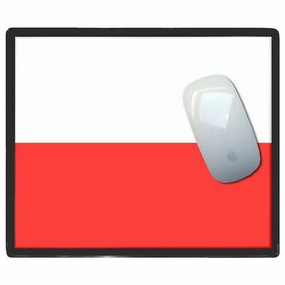 Poland Flag - Thin Pictoral Plastic Mouse Pad Mat Badgebeast