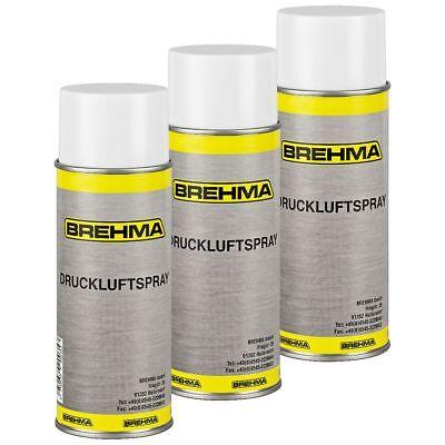 3x  BREHMA Druckluftspray Druckluftreiniger 400ml Reinigungsspray Air Duster