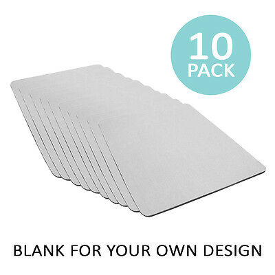 Sublimation Mouse Mats Mat Pad 10 Pack 2mm Thick Rubber 22cm x 18cm Heat Press