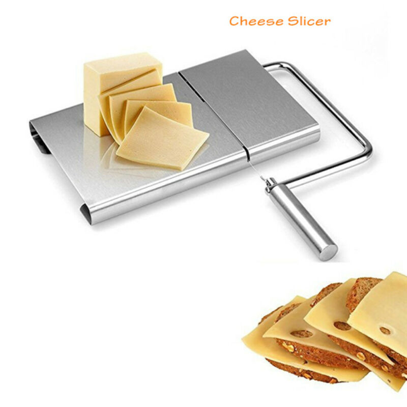 Cheese Butter Slicer Cutter Board Stainless Steel Wire Cutter Baking Tool