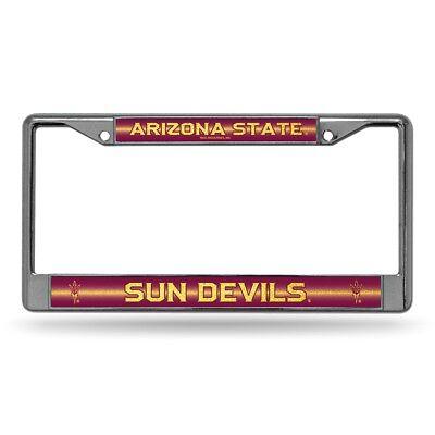 Arizona State Sun Devils NCAAGlitter Bling Chrome License Plate Frame Car Truck Devils Ncaa Chrome License Plate