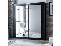 203 cm wide SLIDNG DOOR WARDROBE +Mirror Doors HIgh End THICH MDF Wood ,Beautiful Colours