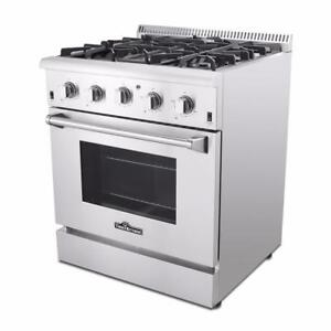 NEW THOR NATURAL GAS PROPANE STAINLESS STEEL OVEN RANGE PROPANE STOVE