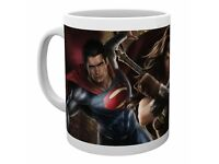10 SUPERMAN MUGS -- 5 X Superman: Man of Steel Movie Mugs and 5 X Batman V Superman Ceramic Mugs