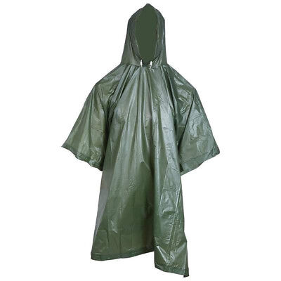 Poncho Rain Coat Mens Travel Hoodie Waterproof Hiking Gear Survival Backpacking