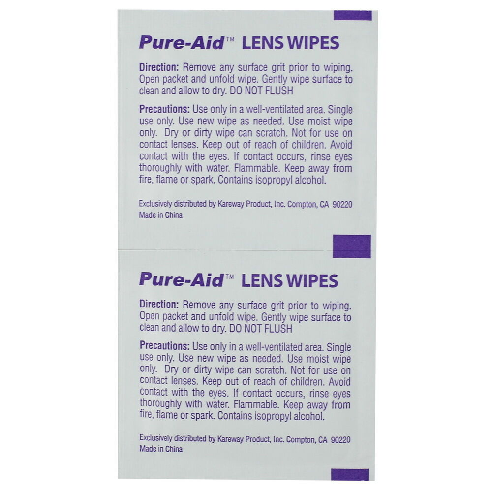 Купить Pure-Aid - Pure-Aid Eye Glasses & Camera Lens Wipes, 100ct