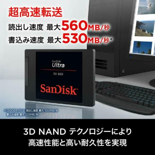 SanDisk Ultra 3D NAND 500GB Internal SSD-SATA III 6 Gb/s 2.5 1