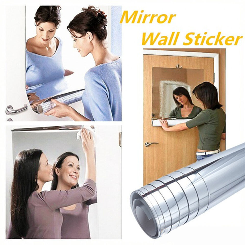 Home Decoration - Mirror Wall Sticker Self Adhesive Mirror Sheets for DIY Art Home Decor