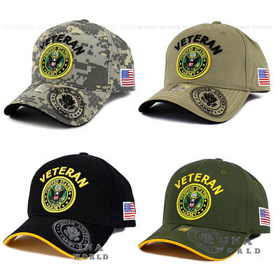 U.S. ARMY hat VETERAN ARMY Embroidered Military Officially Licensed Baseball cap