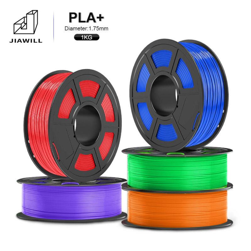JIAWILL PLA PLUS 3D Printer Filament 1.75mm 1KG/2.2LB with Spool PLA+