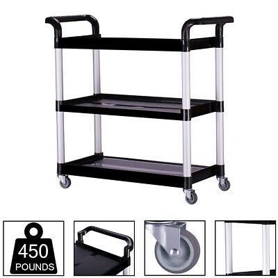 Oshion Heavy-duty 3-shelf Rolling Serviceutilitypush Cart 330390 Lbs Capacity