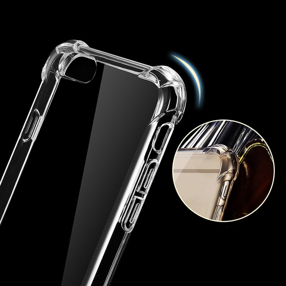Clear Hybrid Slim Shockproof Soft TPU Bumper Cover Case For iPhone 5 SE X 6 7LUS